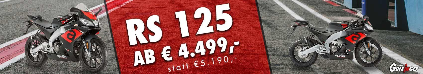 RS 125 jetzt ab € 4.499.-