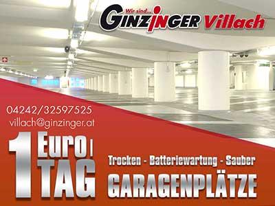 Garagenplatz in Villach