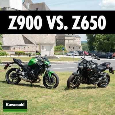 Kawasaki Z900 gegen Z650 Vergleich