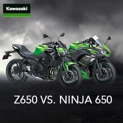 Kawasaki Ninja 650 gegen Kawasaki Z 650