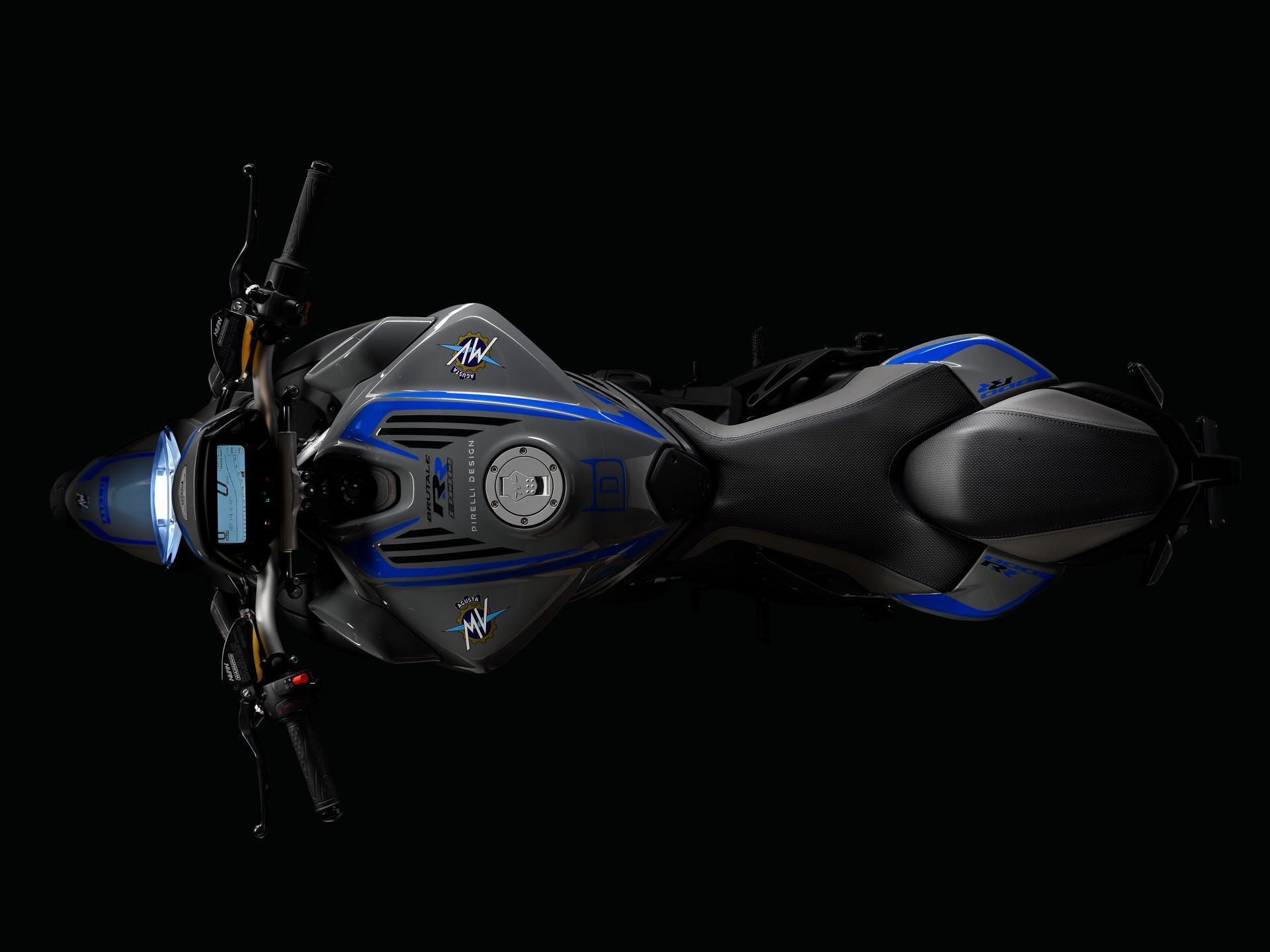 Brutale 800 Pirelli blau oben