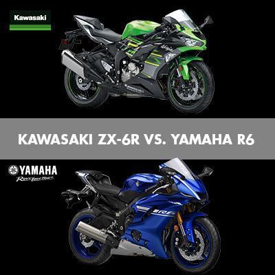 Kawasaki ZX-6R 636 und Yamaha R6 Vergleichstest