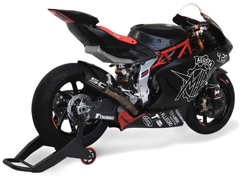 Moto2 Bike schräg hinten