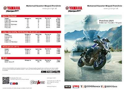 Yamaha Preisliste
