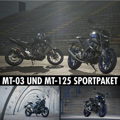 Sportpakete für die Modelle MT-125 und MT-03