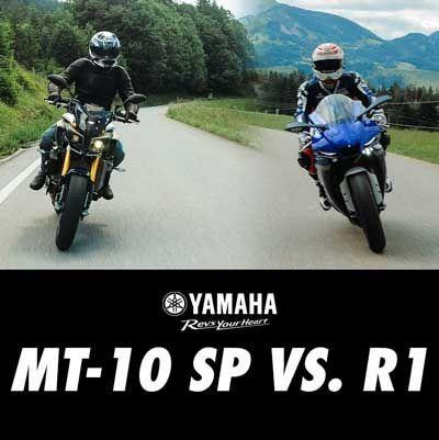 Yamaha R1 und MT10SP im Vergleich